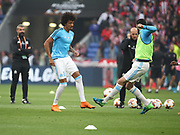 Luiz Gustavo of Marseille warms up during the Europa League Final match between Olympique de Marseille and Atletico Madrid at Orange Velodrome, Marseille, France on 16 May 2018. Picture by Ahmad Morra.