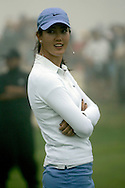 Michelle Wie of the US, on the putting green durring a delay due to fog during the first day of the US Women's Open Golf Championship at Newport Country Club in Newport Rhode Island, Thursday  29 June 2006