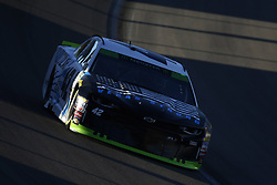 September 14, 2018 - Las Vegas, Nevada, United States of America - Kyle Larson (42) brings his car through the turns during qualifying for the South Point 400 at Las Vegas Motor Speedway in Las Vegas, Nevada. (Credit Image: © Chris Owens Asp Inc/ASP via ZUMA Wire)