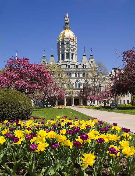 CT State Capitol Building Hartford, CT Spring