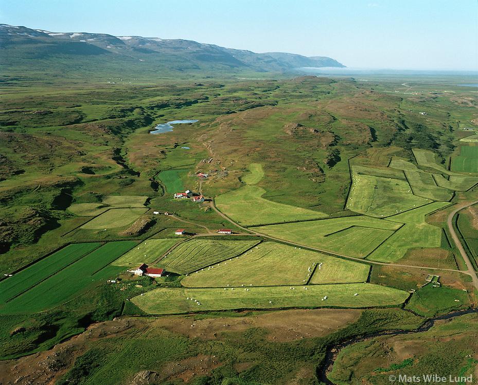 Hallgeirsstaðir og Vörðubrún, Hlíðarhreppur, Jökulsárhlíð.Hallgeirsstadir and Vordubrun in Hlidarhreppur. Jokulsarhlid