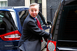© Licensed to London News Pictures. 10/06/2015. London, UK. Justice Secretary MICHAEL GOVE leaving Number 10, Downing Street to attend the Prime Minister's Questions at Parliament on Wednesday, 10 June 2015. Photo credit: Tolga Akmen/LNP