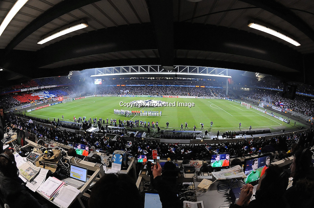 Football : Lyon / Real Madrid - Champions League- 22.02.2011 -  Tribune de Presse dans le stade gerland *** Local Caption *** 00044412