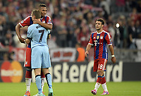 Fotball<br /> Tyskland<br /> 17.09.2014<br /> Foto: Witters/Digitalsport<br /> NORWAY ONLY<br /> <br /> Spielende v.l. Jerome Boateng (Bayern), James Milner, Juan Bernat<br /> <br /> Fussball, Champions League, Gruppenphase, FC Bayern München - Manchester City 1:0