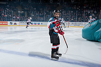 KELOWNA, CANADA - JANUARY 10: The Pepsi player of the game skates on the ice at the Kelowna Rockets against the Spokane Chiefs on January 10, 2017 at Prospera Place in Kelowna, British Columbia, Canada.  (Photo by Marissa Baecker/Shoot the Breeze)  *** Local Caption ***