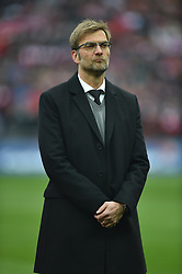 LONDON, ENGLAND - Sunday, February 28, 2016: Liverpool's manager Jürgen Klopp before the Football League Cup Final match against Manchester City at Wembley Stadium. (Pic by Jason Roberts/Pool/Propaganda)
