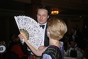 Alexander Crawford and Eleanor Bainton. The  Royal Caledonian Ball in aid of The Royal Caledonian Ball Trust held at The Grosvenor House Hotel, Park Lane, London W1.  28  April 2005. ONE TIME USE ONLY - DO NOT ARCHIVE  © Copyright Photograph by Dafydd Jones 66 Stockwell Park Rd. London SW9 0DA Tel 020 7733 0108 www.dafjones.com