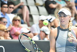 January 7, 2018 - Auckland, Auckland, New Zealand - Caroline Wozniacki of Denmark in her final match against Julia Goerges of German during the WTA Women's Tournament at ASB Centre Count in Auckland, New Zealand on Jan 7, 201 (Credit Image: © Shirley Kwok/Pacific Press via ZUMA Wire)