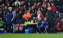 Ipswich Town Manager, Mick McCarthy and Southampton Manager, Ronald Koeman on the side line at St Mary's Stadium - Photo mandatory by-line: Paul Knight/JMP - Mobile: 07966 386802 - 04/01/2015 - SPORT - Football - Southampton - St Mary's Stadium - Southampton v Ipswich Town - FA Cup Third Round