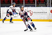 2019-10-13   Tyringe, Sweden: Halmstad Hammers (7) Melker Iversen during the game between Tyringe SoSs and Halmstad Hammers at Tyrs Hov (Photo by: Jonathan Persson   Swe Press Photo)<br /> <br /> Keywords: Tyrs Hov, Tyringe, Hockeyettan, Hockeyettansödra, Tyringe SoSs, Halmstad Hammers, (Match code th191013)