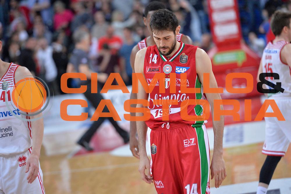 Davide Pascolo<br /> Consultinvest Victoria Libertas Pesaro - EA7 Emporio Armani Olimpia MIlano<br /> Lega Basket Serie A 2016/2017<br /> Pesaro, 30/04/2017<br /> Foto M.Ceretti / Ciamillo - Castoria