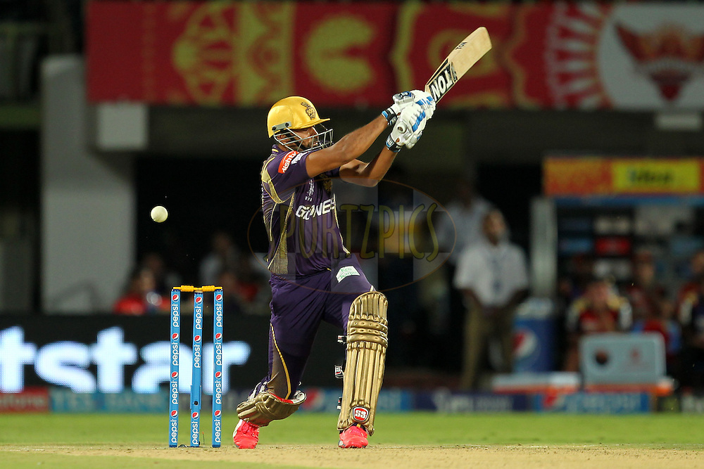 Yusuf Pathan of Kolkata Kinght Riders during match 19 of the Pepsi IPL 2015 (Indian Premier League) between The Sunrisers Hyderabad and The Kolkayta Knight Riders held at the ACA-VDCA Stadium in Visakhapatnam India on the 22nd April 2015.Photo by:  Prashant Bhoot / SPORTZPICS / IPL