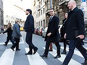 Luigi Di Maio camminia in strada prima di un incontro nella sede di Confcommercio. Milano, 14 marzo 2018. Guido Montani / OneShot<br /> <br /> Luigi Di Maio, walks in the street before a meeting at Confcommercio. Milan, 14 march 2018. Guido Montani / OneShot
