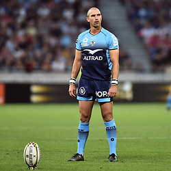 Ruan Pienaar of Montpellier during the Top 14 semi final match between Montpellier Herault Rugby and Lyon on May 25, 2018 in Lyon, France. (Photo by Alexandre Dimou/Icon Sport)