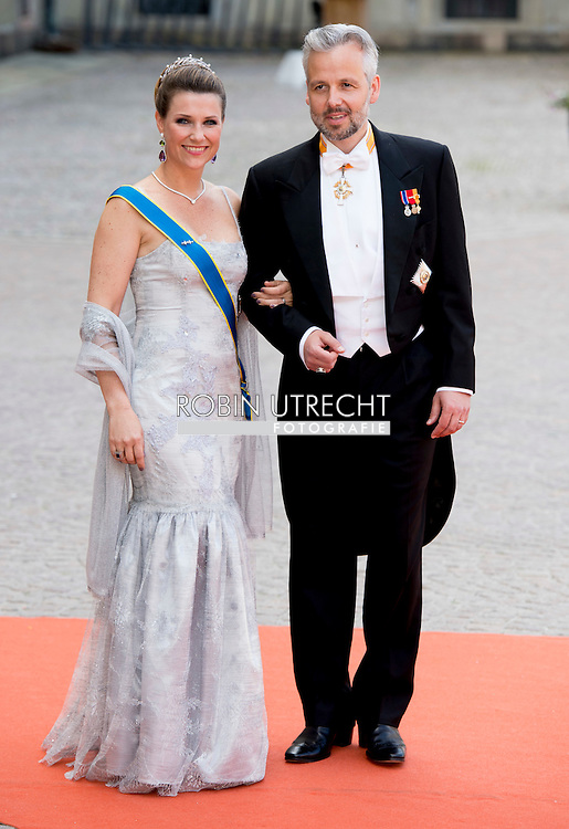 13-6-2015 STOCKHOLM   Princess Martha Louise  and Arie Behn from norway  arrival of  for  .The wedding of Prince Carl Philip and Sofia Hellqvist  at the  Royal palace in Stockholm .COPYRIGHT ROBIN UTRECHT