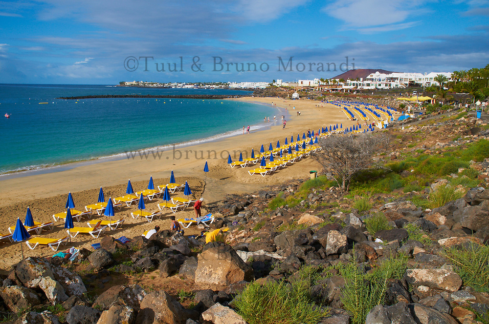 Espagne, Iles Canaries, Ile de Lanzarote, plage de Blanca // Spain, Canary islands, Lanzarote, Blanca beach