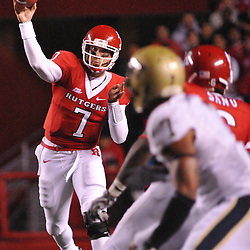 Oct 16, 2009; Piscataway, NJ, USA; Rutgers quarterback Tom Savage (7) makes a pass during first half NCAA football action in Pittsburgh's 24-17 victory over Rutgers at Rutgers Stadium.