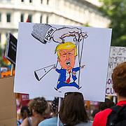 Manifestatione di protesta durante la visita di Trump a Londra<br /> <br /> Demonstration against Trump during his visit to London
