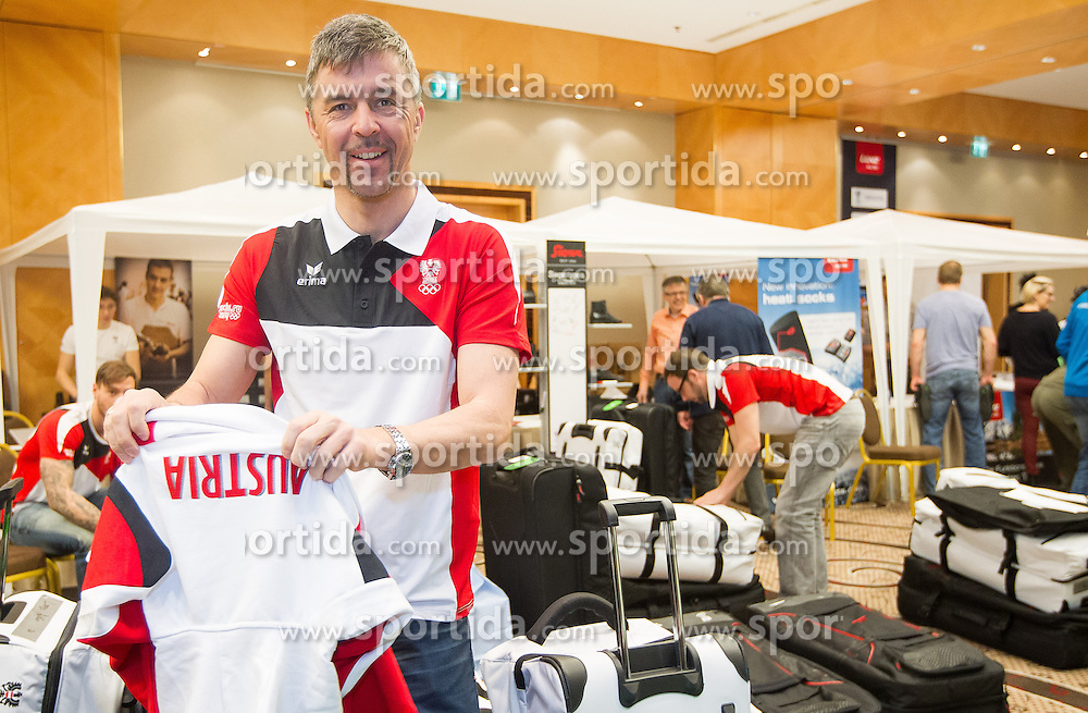 28.01.2014,  Marriott, Wien, AUT, Sochi 2014, Einkleidung OeOC, im Bild Remo Krug (Cheftrainer, Biathlon, AUT) // Remo Krug (Cheftrainer, Biathlon, AUT)<br />  during the outfitting of the Austrian National Olympic Committee for Sochi 2014 at the  Marriott in Vienna, Austria on 2014/01/28. EXPA Pictures © 2014, PhotoCredit: EXPA/ JFK