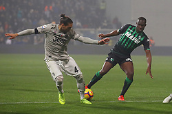 "Foto Filippo Rubin<br /> 10/02/2019 Reggio Emilia (Italia)<br /> Sport Calcio<br /> Sassuolo - Juventus - Campionato di calcio Serie A 2018/2019 - Stadio ""Mapei Stadium""<br /> Nella foto: MARTIN CACERES (JUVENTUS) VS KHOUMA BABACAR (SASSUOLO)<br /> <br /> Photo Filippo Rubin<br /> February 10, 2019 Reggio Emilia (Italy)<br /> Sport Soccer<br /> Sassuolo vs Juventus - Italian Football Championship League A 2018/2019 - ""Mapei Stadium"" Stadium <br /> In the pic: MARTIN CACERES (JUVENTUS) VS KHOUMA BABACAR (SASSUOLO)"