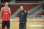 Danzica - Polonia 03 Agosto 2012 - Nazionale Italia Maschile Allenamento - <br /> Nella Foto : SIMONE PIANIGIANI<br /> Foto Ciamillo