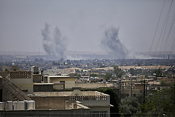 June 18, 2017 - Mosul, Iraq - Two massive vehicle borne improvised explosive devices (VBIEDs) went off in West Mosul at 11.45. West Mosul, Iraq, 18 June 2017  (Credit Image: © Noe Falk Nielsen/NurPhoto via ZUMA Press)