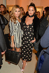 Left to right, ZOE HARDMAN and ROXIE NAFOUSI at the launch of the new J&M Davidson flagship shop at 104 Mount Street, London on 3rd February 2016.