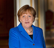 King Phillipe and Bundes Chancellor Angela Merkel, Laken Castle 04-03-2015