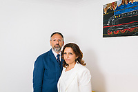 PAOLA, ITALY - 13 JUNE 2018:  (R-L) CEO Maria Antonietta Ventura and her brother CFO Alessandro Ventura pose for a portait in the headquarters of Gruppo Ventura,  a family-owned company that installs railroad tracks and does locomotives maintenance,  in Paola, Italy, on June 13th 2018.<br /> <br /> Alessandro Ventura, CFO of Gruppo Ventura, traveled there some 20 times over the last three years, establishing a venture with an Iranian company engaged in expanding the national rail network. In March 2017, he signed a 2 million euro contract (about $2.3 million) to service a section of rail outside Teheran.<br /> He shipped two locomotives used to tamp down the rocks below railroad tracks. They went out on a freighter from Gioia Tauro, a port on the Tyrrhenian Sea that has long been notorious as a Mafia-run conduit for cocaine trafficking.<br /> Last August, Mr. Ventura stood at the Iranian port of Bandar Abbas in 122 degree heat, watching a crane hoist the locomotives onto the docks.<br /> Now, those machines are effectively marooned, the business halted. Gruppo Ventura has lost appetite for adventurous expansion.<br /> <br /> Once the Obama administration struck the nuclear deal with Iran three years ago, Italy saw a chance. Last year, Italy exported more than 1.7 billion euros (nearly $2 billion) worth of goods to Iran. Then, President Trump withdrew the United States from the Iran deal and vowed to reinstate sanctions, dealing a blow to companies across Europe — especially those from Italy, Germany and France.