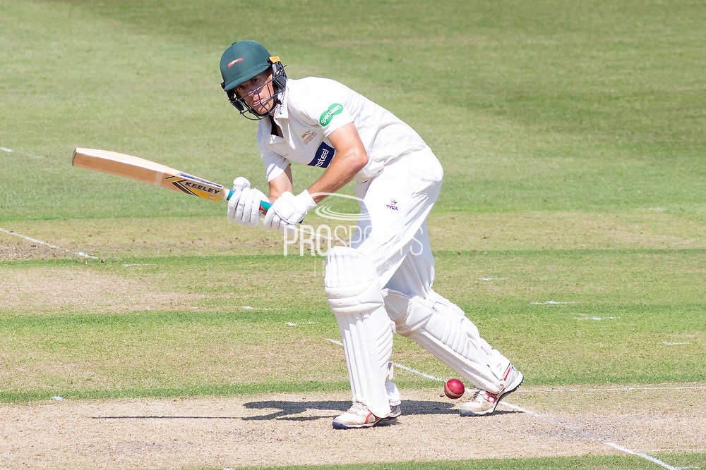 Neil Dexter on his way to 50 during the Specsavers County Champ Div 2 match between Gloucestershire County Cricket Club and Leicestershire County Cricket Club at the Cheltenham College Ground, Cheltenham, United Kingdom on 15 July 2019.