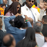 Leeds,  8th June 2007 IFFA Celebrity Cricket Match  SHilpa Shetty at the cricket match receives wishes for her birthday (32 y )  At the match were present several Bollywood actors including Amitabh Bacjhchan,  Abisheck Bachchan and Ayshwarya Rai,