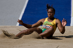 Kimberly Williams of Jamaica competes in the women's triple jump qualifying event of the 2009 IAAF Athletics World Championships on August 15, 2009 in Berlin, Germany. (Photo by Vid Ponikvar / Sportida)
