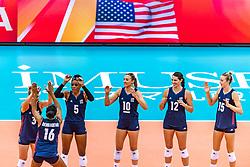 15-10-2018 JPN: World Championship Volleyball Women day 16, Nagoya<br /> Netherlands - USA 3-2 / Team USA
