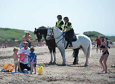 Police presence at Troon Beach | Troon | 26 May 2017