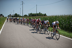 Lucinda Brand (NED) of Rabo-Liv Cycling Team digs deep at the front during the Giro Rosa 2016 - Stage 3. A 120 km road race from Montagnana to Lendinara, Italy on July 4th 2016.