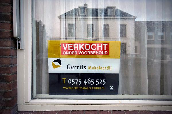 Nederland, Hengelo Gelderland, 18-1-2018Huis wat te koop stond is verkocht onder voorbehoud .Foto: Flip Franssen