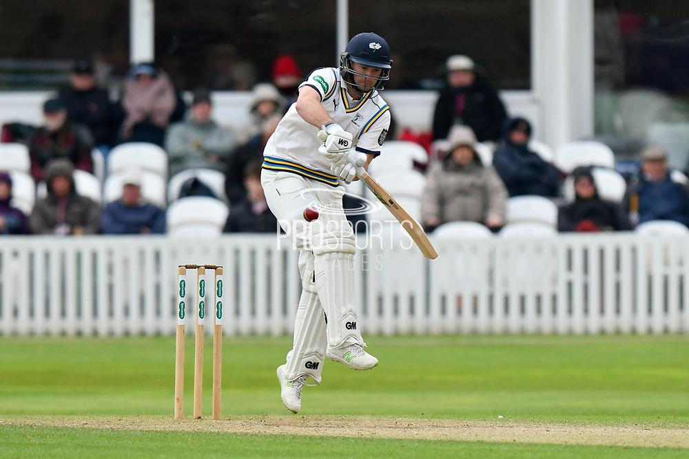 Adam Lyth of Yorkshire batting during the third day of the Specsavers County Champ Div 1 match between Somerset County Cricket Club and Yorkshire County Cricket Club at the Cooper Associates County Ground, Taunton, United Kingdom on 29 April 2018. Picture by Graham Hunt.