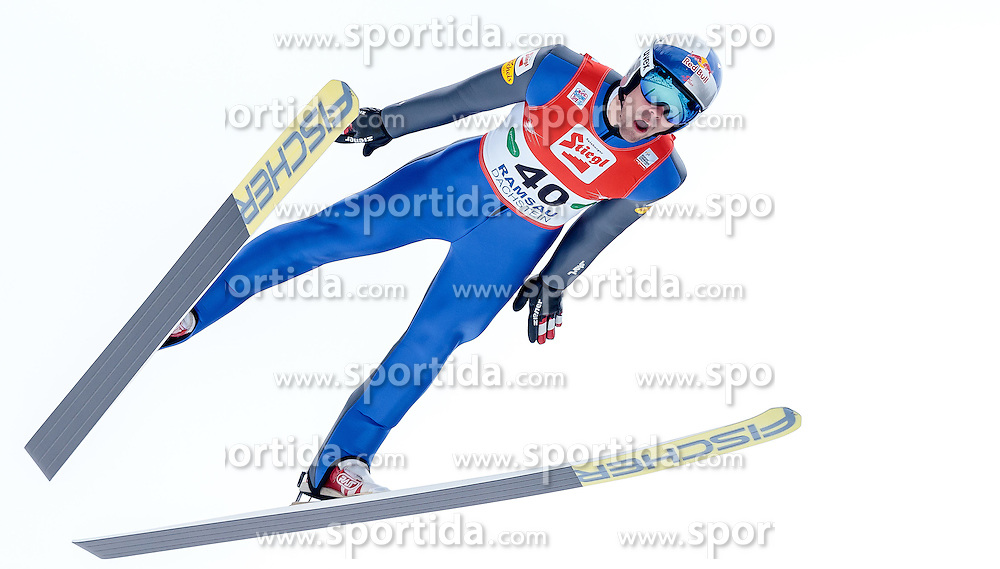 18.12.2016, Nordische Arena, Ramsau, AUT, FIS Weltcup Nordische Kombination, Skisprung, im Bild Philipp Orter (AUT) // Philipp Orter of Austria during Skijumping Competition of FIS Nordic Combined World Cup, at the Nordic Arena in Ramsau, Austria on 2016/12/18. EXPA Pictures © 2016, PhotoCredit: EXPA/ JFK
