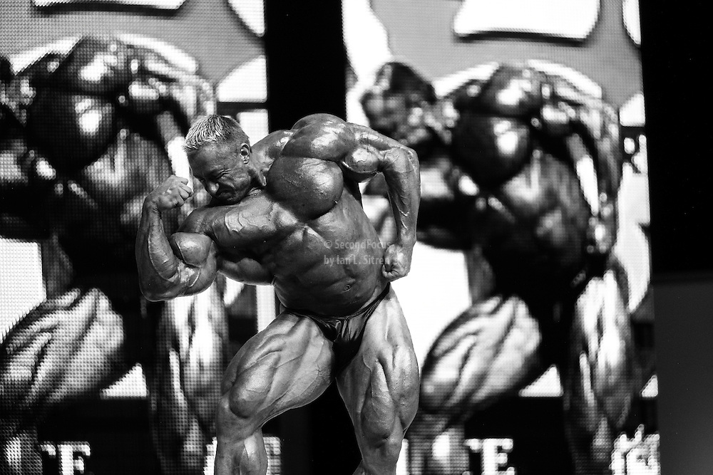 Markus Ruhl on stage at the finals for the 2009 Mr. Olympia competition in Las Vegas.
