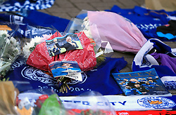 "Supporters pay tribute at Leicester City Football Club. Leicester Chairman, Vichai Srivaddhanaprabha, was among those to have tragically lost their lives on Saturday evening when a helicopter carrying him and four other people crashed outside King Power Stadium. PRESS ASSOCIATION Photo. Picture date: Monday October 29, 2018. Broken-hearted Leicester have paid tribute to ""a great man"" following the death of billionaire owner Vichai Srivaddhanaprabha in a helicopter crash close to the King Power Stadium. See PA story SOCCER Leicester. Photo credit should read: Mike Egerton/PA Wire"
