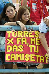BANGKOK, THAILAND - Wednesday, July 22, 2009: Thai Liverpool supporters before the preseason friendly match against Thailand at the Rajamangala Stadium. (Pic by David Rawcliffe/Propaganda)