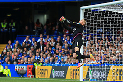Kasper Schmeichel of Leicester City punches the ball clear - Mandatory by-line: Jason Brown/JMP - 15/10/2016 - FOOTBALL - Stamford Bridge - London, England - Chelsea v Leicester City - Premier League