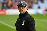 London Irish Head Coach Les Kiss during the Gallagher Premiership Rugby match between Wasps and London Irish at the Ricoh Arena, Coventry, England on 20 October 2019.