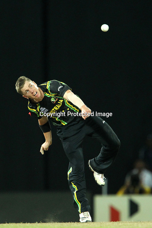 Xavier Doherty during the ICC World Twenty20 semi final match between Australia and The West Indies held at the Premadasa Stadium in Colombo, Sri Lanka on the 5th October 2012<br /> <br /> Photo by Ron Gaunt/SPORTZPICS