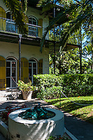 US, Florida, Key West. Ernest Hemingway Home.