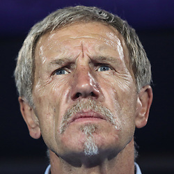 06 July 2019, Egypt, Cairo: South Africa's national team coach Stuart Baxter is pictured prior to the start of the 2019 Africa Cup of Nations round of 16 soccer match between Egypt and South Africa at Cairo International Stadium. Photo : PictureAlliance / Icon Sport