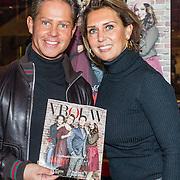 NLD/Amsterdam/20161117 - Danny de Munk en partner Jenny gasthoofdredacteur VROUW Magazine