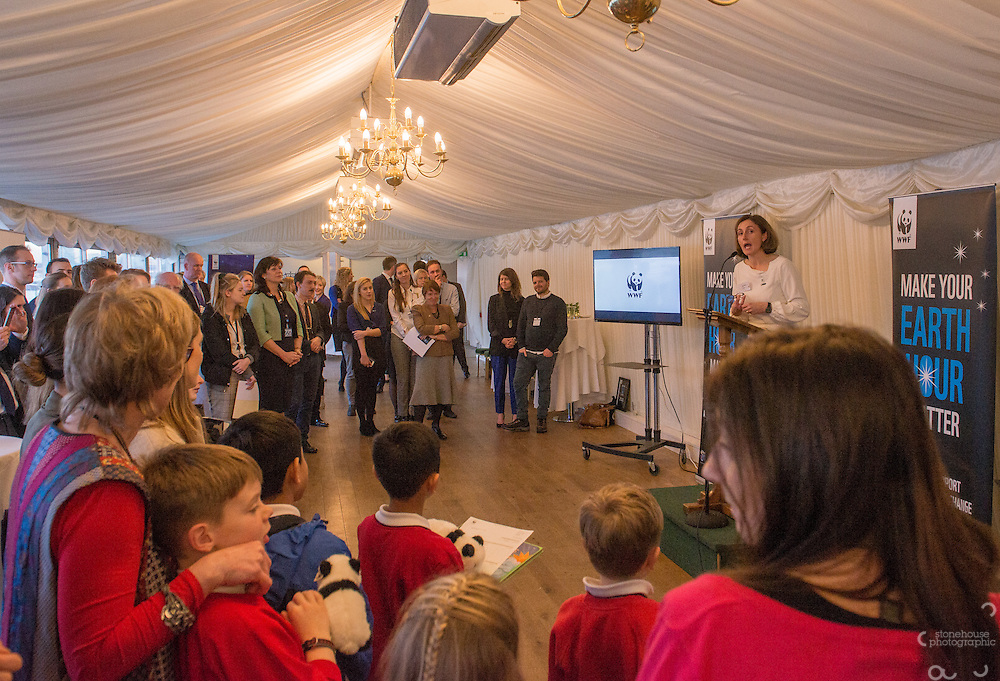 Tanya Steele WWF UK Ceo at WWF UK Earth Hour 10th Anniversary Parliamentary Reception, Terrace Pavilion, Palace of Westminster. 28th Feb. 2017
