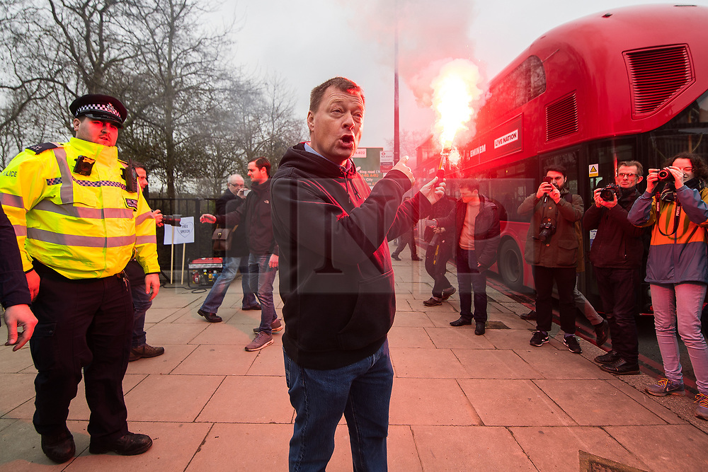"© Licensed to London News Pictures. 11/03/2018. London, UK. Alt right group Generation Identity and other far-right groups hold a demonstration at Speakers' Corner in Hyde Park , opposed by antifascists . Generation Identity supporters Martin Sellner and Brittany Pettibone were due to speak at the demo but were arrested and detained by police when they arrived in the UK , also forcing them to cancel an appearance at a UKIP "" Young Independence "" youth event , which in turn was reportedly cancelled amid security concerns . Photo credit: Joel Goodman/LNP"