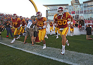September 2 2010: The Iowa State Cyclones enter the field before the first half of the NCAA football game between the Northern Illinois Huskies and the Iowa State Cyclones at Jack Trice Stadium in Ames, Iowa on Thursday September 2, 2010. Iowa State defeated Northern Illinois 27-10.